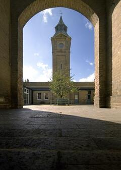 Property Photo: Little Big Ben clocktower in the courtyard