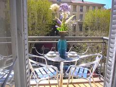 Property Photo: Balcony Apartment with views onto Place Massena fountains etc.