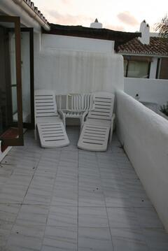 Upstairs terrace