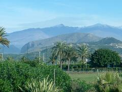 View of mountains from nearby golf course
