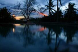 dreamlike african sundown