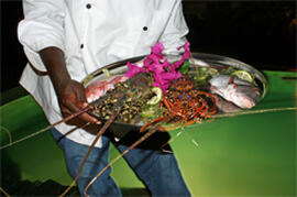 Fresh seafood prepared for you