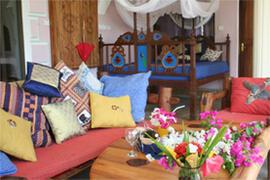 Veranda with Lamu pili-pili bed