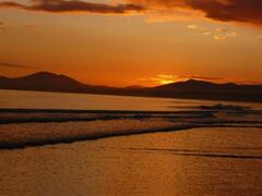 Property Photo: Sunset from Harlech beach