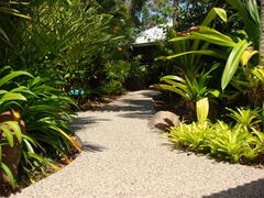 Pathway to private & secluded chalets.