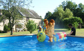 Property Photo: Fun in the pool at La Villonniere