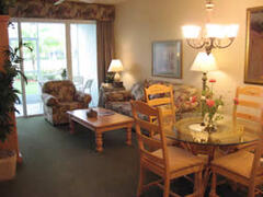 Living area opens to screened in lanai
