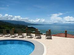 Property Photo: View of Punta Uvita from the pool.