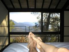 view from the sleeping loft