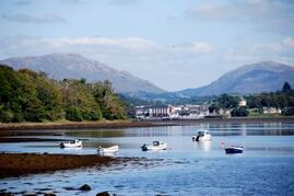 Nearby Donegal Town where you can take a boat trip, visit a castle, or wander through the many shops
