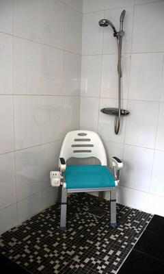Shower chair available for downstairs en suite