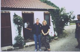 Property Photo: Georgi Fame with host diane,stays at Whixley Lodge  with Band for 1 week