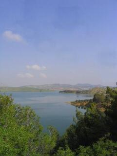 one of the lakes close to the villa