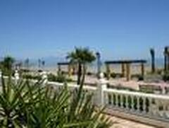 View across beach