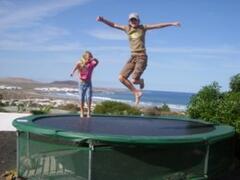 Your own trampoline in the garden
