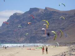 Kite surfing beach of Famara