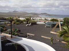 View to village from garden