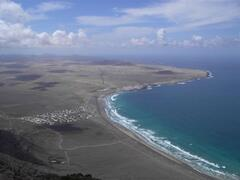 Famara aerial view