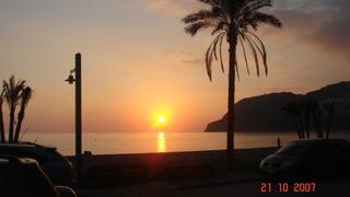 Sunset on Herradura Beach