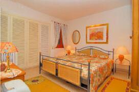 the bedroom queensize comfy bed