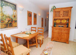 dining area can accommodate put up bed for two children or one adult