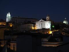 Alfama by night view from dining room