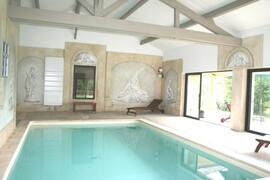 Property Photo: Villa with indoor pool heated all year long