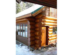 Property Photo: Entrance to Guest Cabin -Solid Log Construction