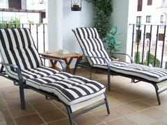Loungers on the terrace