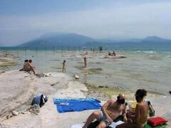 beach on lake garda
