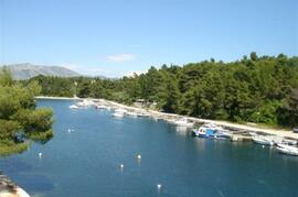 Located in the closest bay to Korcula Old Town. This is the view.