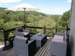 Property Photo: Sunny Terrace with view