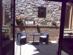 Private Interior Courtyard from Portico Bedroom