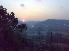 Late-Winter Sunrise at the Villa