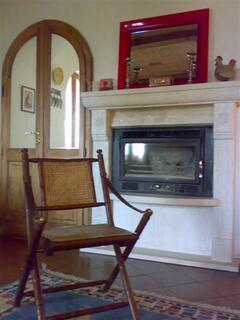 Portico Travertine Fireplace