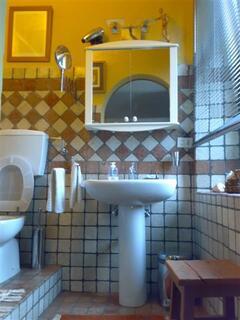 Terrazza Stone-Tiled Bathroom