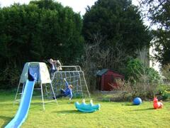 children's play area and tennis court