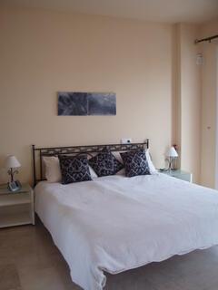 bedroom en suite with sea views