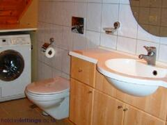 WC upstairs, both washer and a dryer
