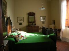 One of the bedrooms inside the Villino