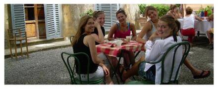 Guests having breakfast outdoor