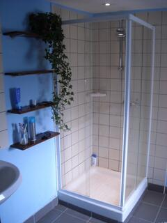 Downstairs bathroom with Power Shower