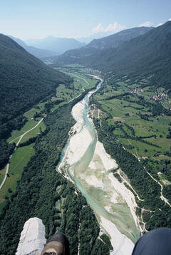 The nearby Soca River