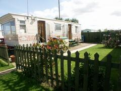 Property Photo: the caravan and garden