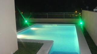 Property Photo: Private pool at night
