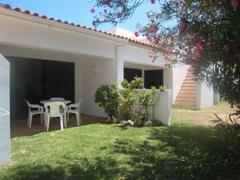 Blue Villa: rear garden and terrace