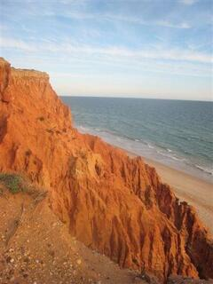 Praia da Falésia-Hotel Alfamar beach cliff views 3