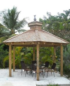 Private gazebo with gas BBQ