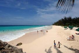 Dover Beach - a 5 min walk. Dover beach has food, drink, water sports, basketball, and access to the Gap