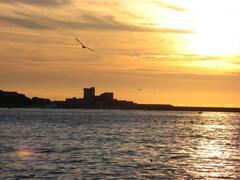 Saint-Jean-de-Luz beach by sunset